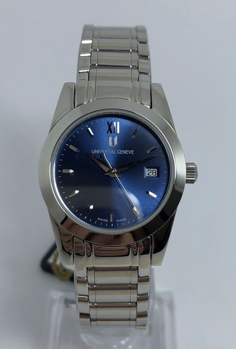 """Universal Genève - Electric Blue Edition """"New Old Stock"""" - 818-610 - Dames - 1990-1999"""