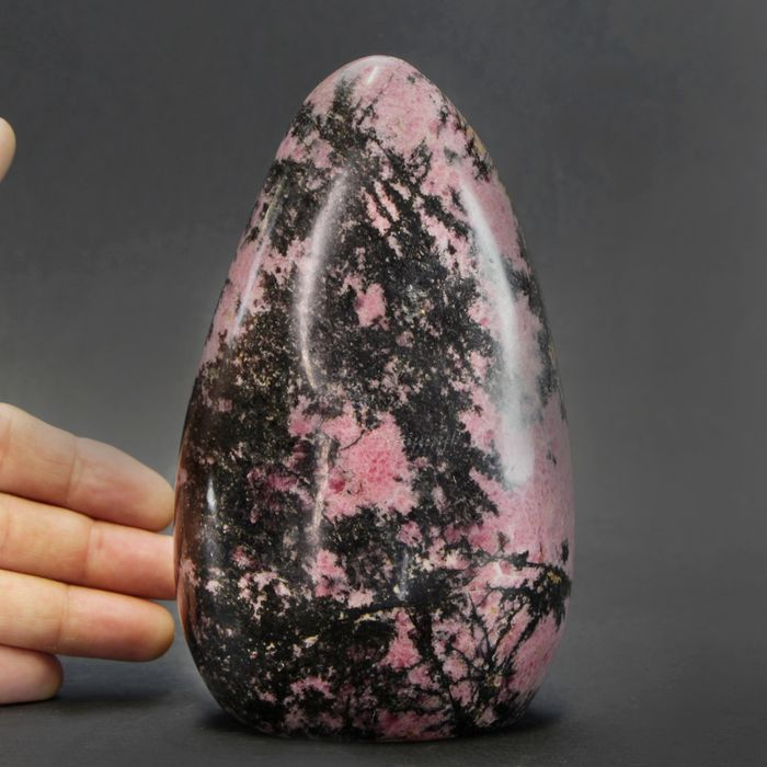 Top Quality and Rare Rhodonite Free Form - 170×100×70 mm - 1860 g
