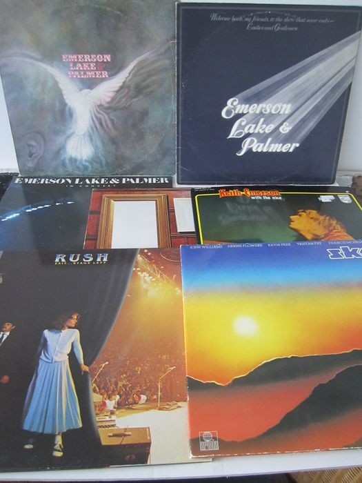 Emerson, Lake & Palmer, Rush, Sky - Multiple artists - 7 Albums Symfo, Prog & Psychedelic Rock - Multiple titles - 2xLP Album (double album), 3xLP Album (Triple album), LP Album - 1970/1981