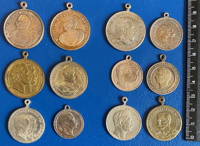 German Empire, Prussia 12 pieces - Emperor Wilhelm I and II, Emperor Friedrich III - Government medals