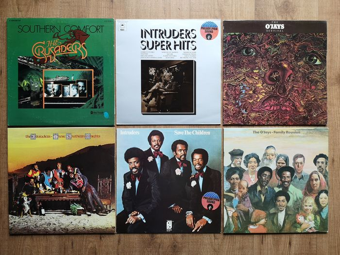 Various Artists/Bands in Soul, The O'Jays - Intruders - The Crusaders - Multiple titles - LP's - 1973/1976