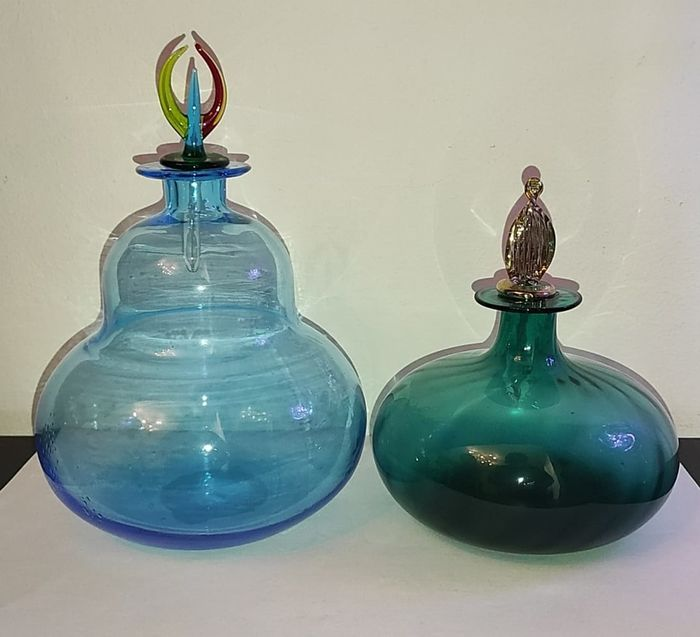 Carlo Moretti - Bottles with cap (2) - Glass