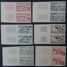 Frankrijk 1953 - Helsinki Olympics, series in pairs, imperforate. - Yvert 960-965
