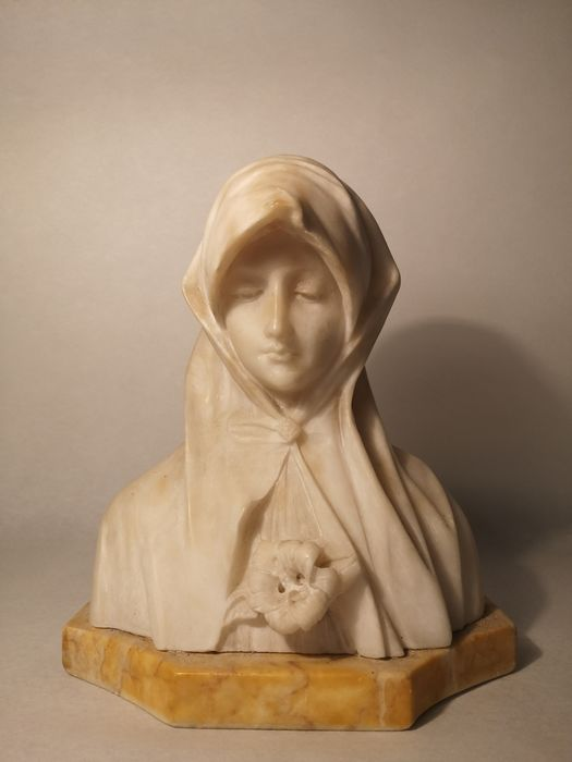 Sculpture - Alabaster, Marble - Late 19th century