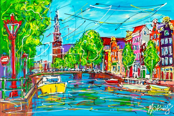 Mathias - Amsterdam colored canal