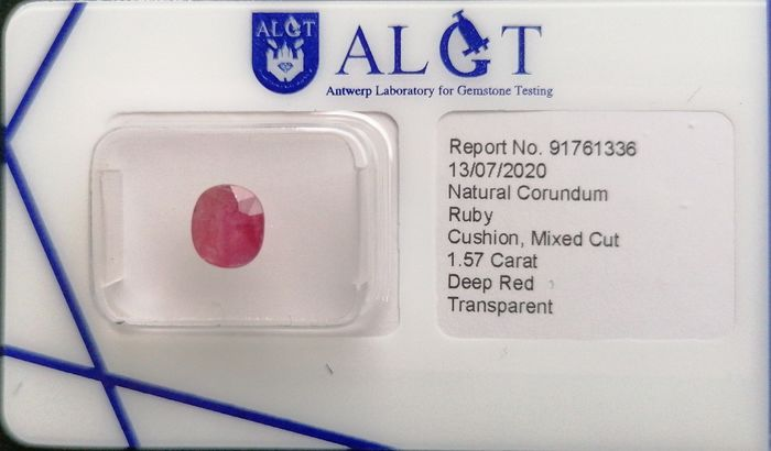 Deep red Ruby - 1.57 ct