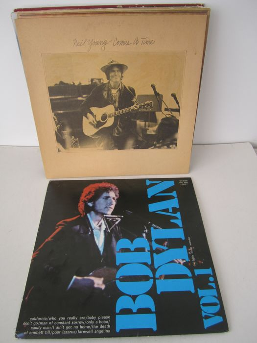 Bob Dylan, Lou Reed, Neil Young, Crosby & Nash - Différents artistes - 11 albums in Folk Rock/Country Rock - Différents titres - LP's - 1972/1982