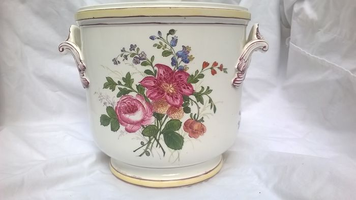 Veuve Perrin porcelaine ice-bucket for Champagne or wine - Bouche du Rhone