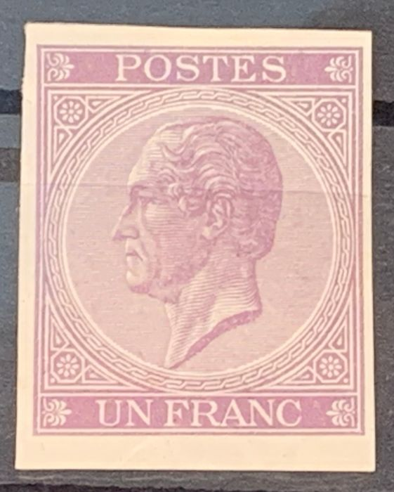 Belgium 1865 - Issue Leopold I in profile - Colour tests London on white and pelure paper - Stes 1175, 1169, 1180, 1184, 1187, 1192, 1198, 1200
