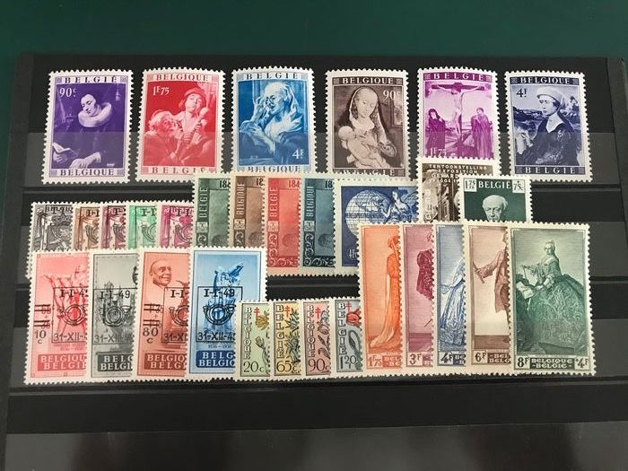 Belgium 1949 - Year without blocks - OBP / COB 792/822