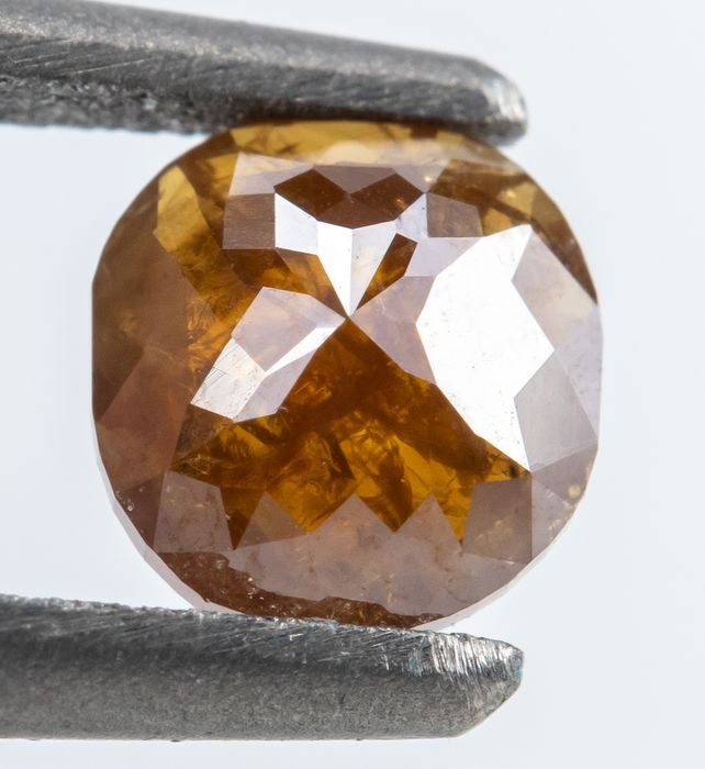 Diamant - 0.32 ct - Natural Fancy Deep Brownish Orange - I3  *NO RESERVE*