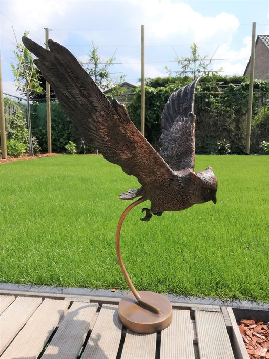 Flying owl - Patinated bronze - recent