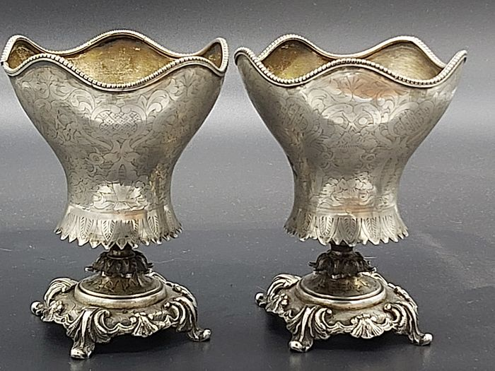 A pair of silver Ottoman cups 19nth century - Silver - Turkey - Late 19th century