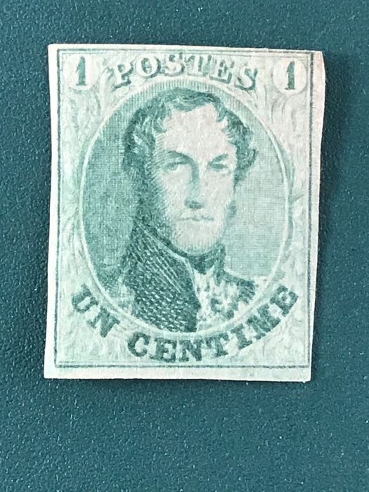Belgium 1861 - 1 centimes imperforate medallion - OBP / COB 9