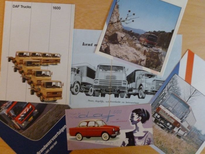 Brochures / catalogues - 6 different rare (!) DAF brochures - Daf