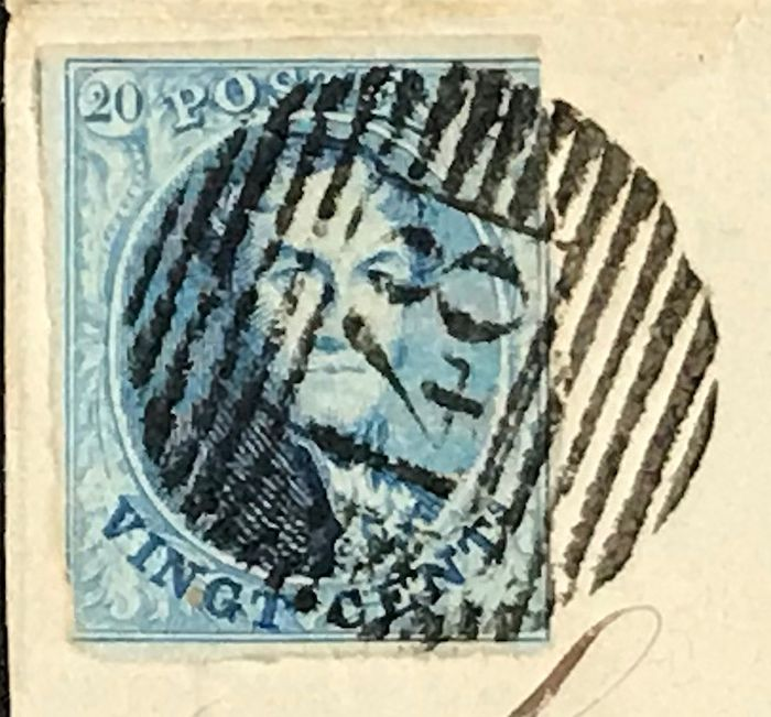Belgium - Lot of Medallions on fragments - For the stamp collector !!!