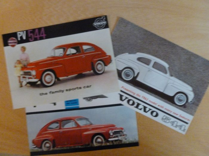 Brochures / catalogues - 3 different Volvo (PV) 544 sales brochures - Volvo