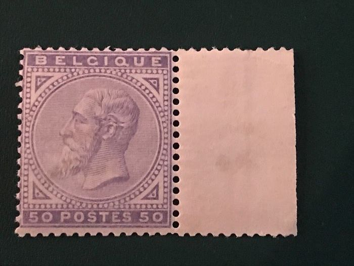 Belgium 1884 - 50 centimes King Leopold II new type - OBP / COB 41