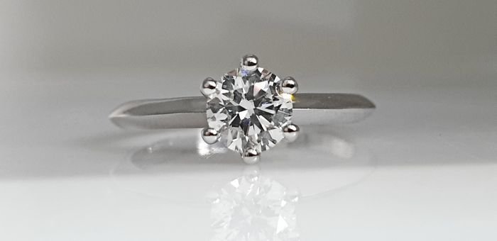 14 kt. White gold - Ring - 0.62 ct Diamond - No Reserve VS2