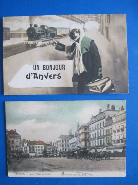 Belgium - Antwerp sight maps - Postcards (Collection of 304) - 1900-1950