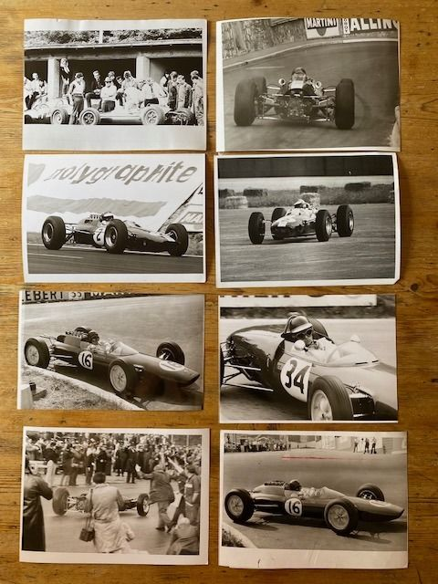 photograph - 8 x motor racing Period  photographs Jim Clark Lotus  - motor racing photographs  - 1960-1970