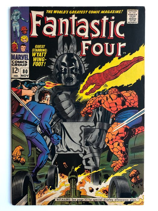 Fantastic Four #80 - 1st Appearance Of Tomazooma - High Grade!!! - Softcover - Eerste druk - (1968)