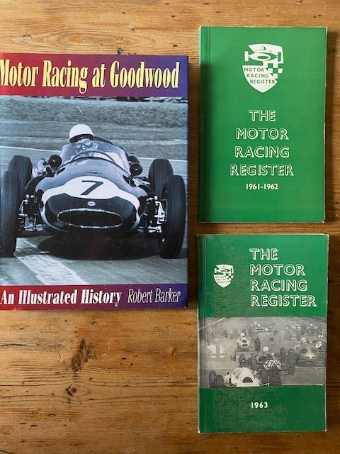 book signed - Motor Racing at Goodwood an Illustrated History Signed The Motor Racing register 1961/ 2 1963 - Aston Martin, Ferrari, Lotus - 1990-2000