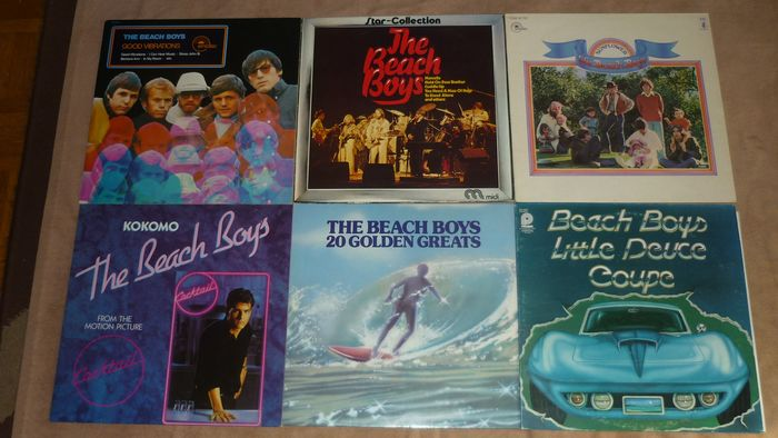 """Beach Boys - 6 albums of this legendary Surf Band incl. Club Edition - Multiple titles - LP's, Maxi single 12""""inch - 1976/1988"""