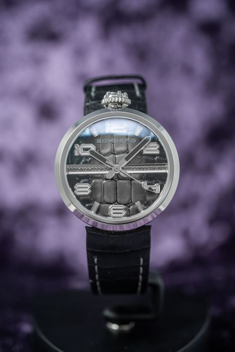 """Bomberg - 1968 Watch 40mm Black Stainless Steel - EXTRA Strap - RS40H3SS.278.3 """"NO RESERVE PRICE"""" - Damen - Brand NEW"""