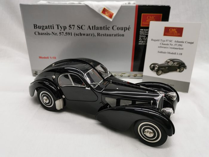 CMC - 1:18 - Bugatti Typ 75SC Atlantic Coupé  - Colour black