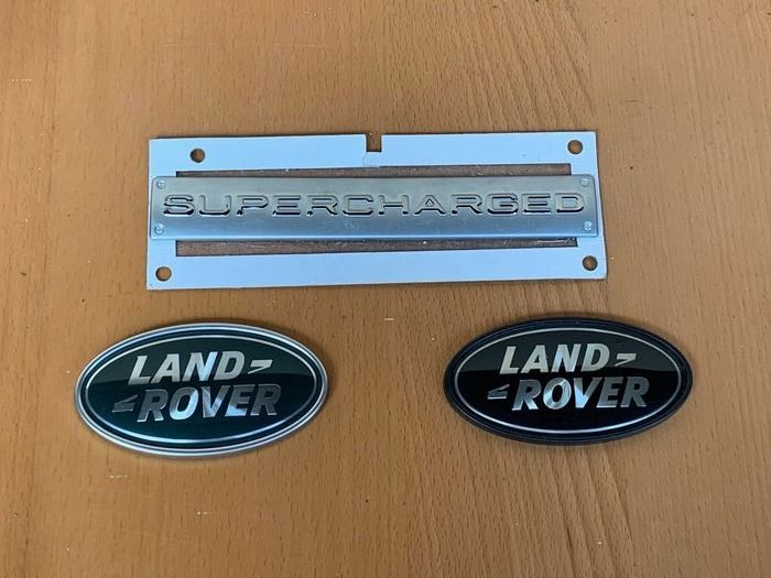 Emblem / mascot - Supercharged - Origineel - Land Rover Black Oval - Land Rover Oval - Land Rover, Range Rover - After 2000