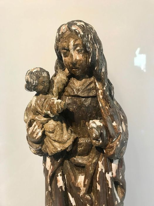nieznany - Madonna and child (1) - Wood, Polychrome - Second half 19th century
