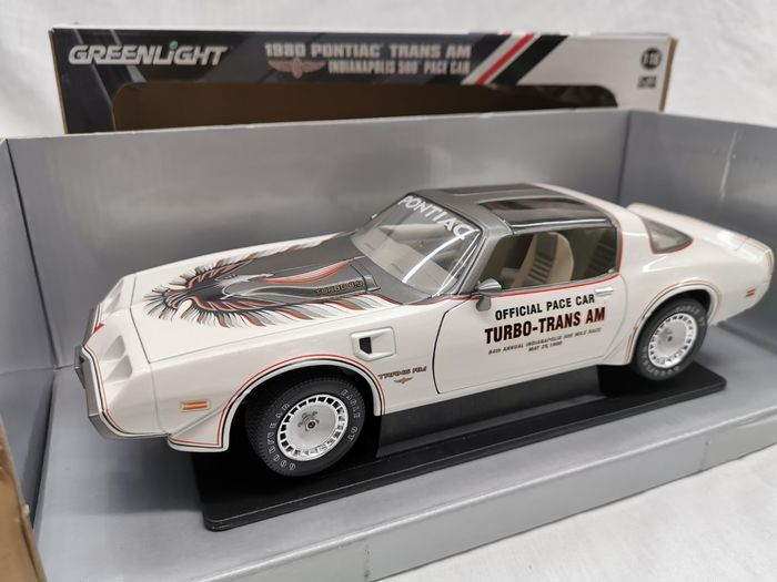 Greenlight - 1:18 - Pontiac Trans Am 1980 Indianapolis 500 Pace Car  - -Color White - Scale 1-18