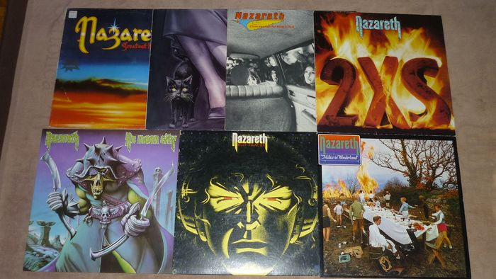 Nazareth - 7 Albums incl. Club Edition, 1st Press and rare 2XS - Multiple titles - LP's - 1977/1985