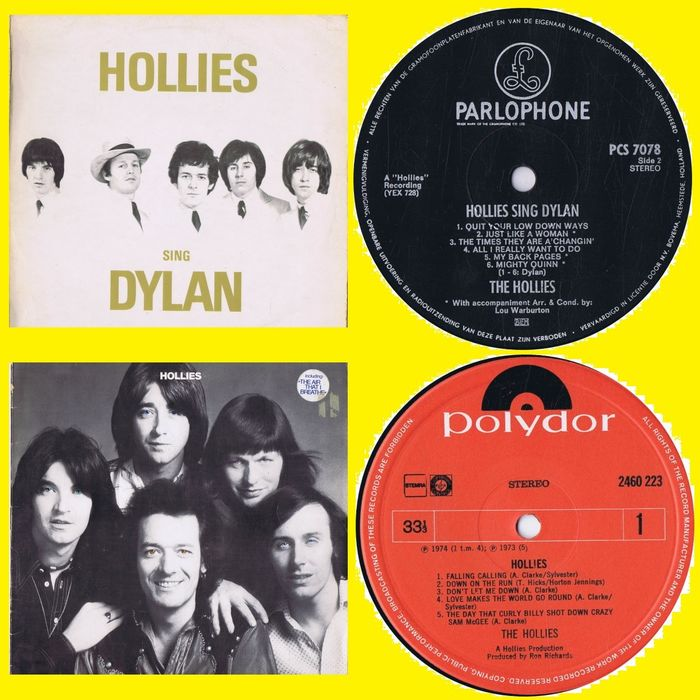 The Hollies  - 1. Hollies Sing Dylan 2.  - Multiple titles - LP's - 1969/1968