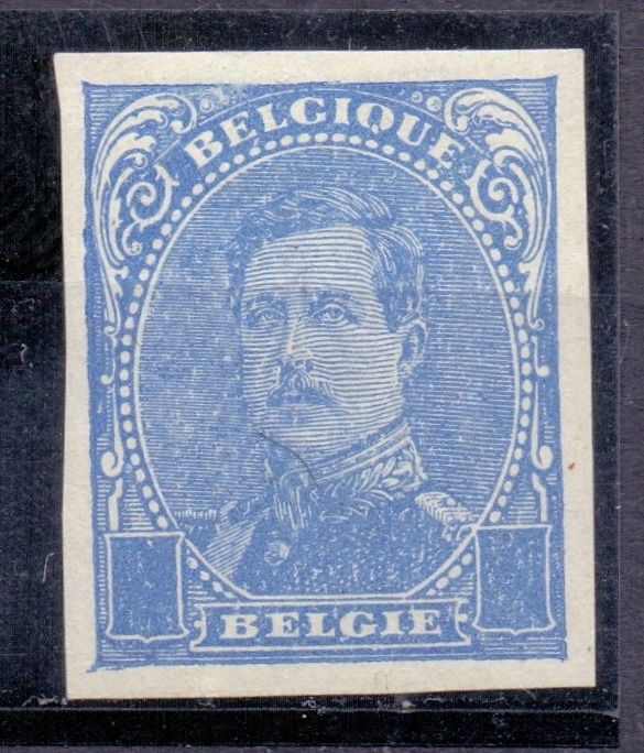 Belgium 1912 - Albert I type from 1915: proof/blue without denomination