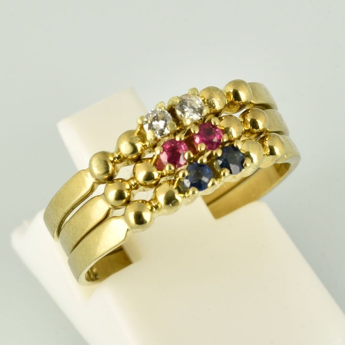 8 kt. Yellow gold - Ring