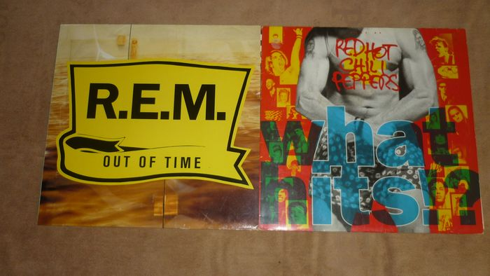 R.E.M., Red Hot Chili Peppers - What Hits!? & Out of Time - Multiple titles - LP's - 1991/1992