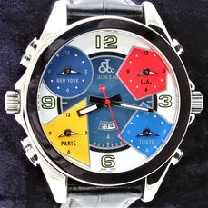 Jacob & Co. - Five Time Zone Chronograph Dual Dial  - Excellent Condition - Warranty - Heren - 2011-heden