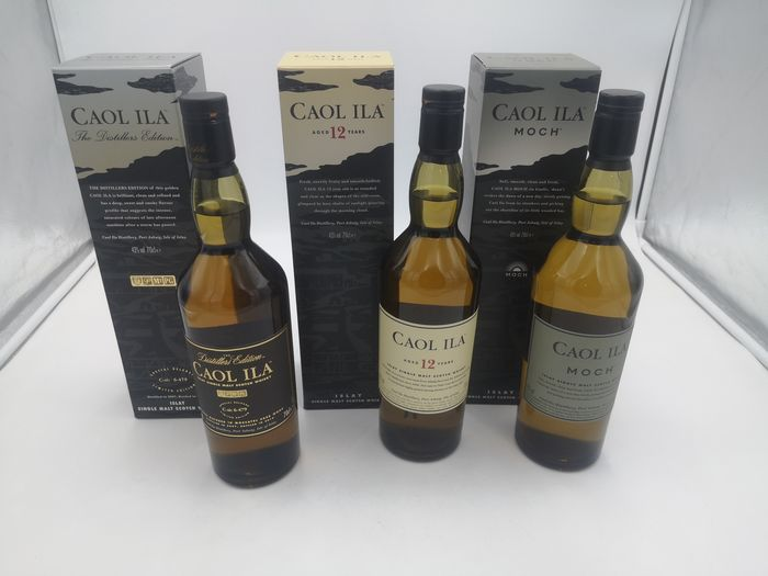 Caol Ila 2007 Distillers Edition - 12 years old - Moch - Original bottling - 70cl - 3 bottles