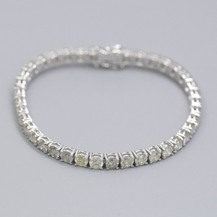14 kt. White gold - Bracelet - 12.70 ct Diamond - No Reserve Price