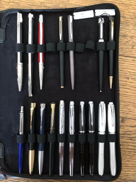 S.T. Dupont, Parker and Waterman - Fountain pen - Set of 17
