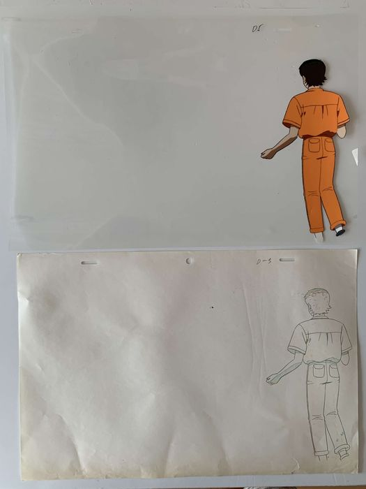 AKIRA - original sketch + hand-painted cel - First edition - (1988)