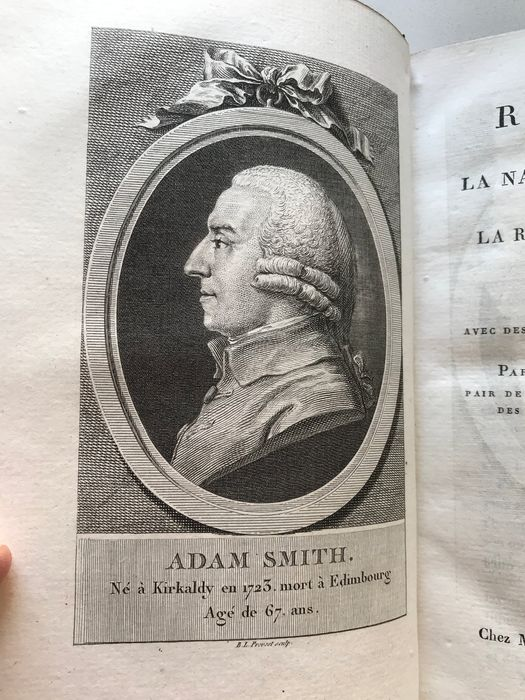 Adam Smith - Recherches sur la Nature et la Cause de la Richesse des Nations. - 1822