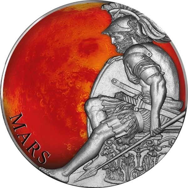 """Cameroon - 3000 Franchi  - 2020 - """"MARS"""" - Marte -  Planets and Gods - 3 Oz - Silver"""
