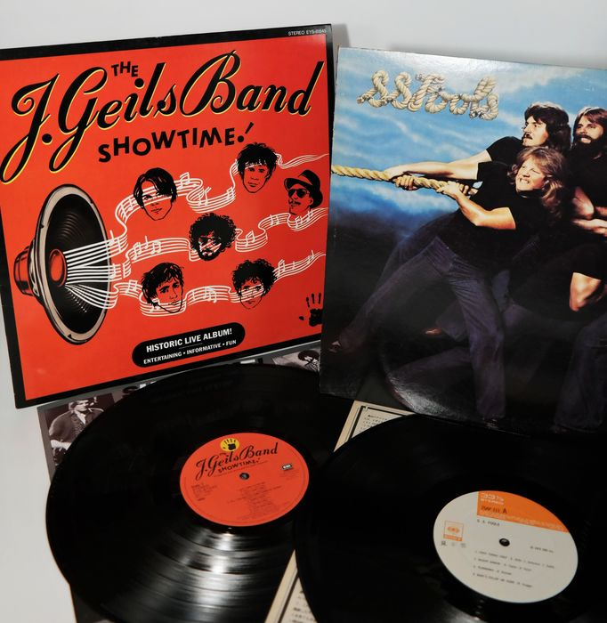 """The J. Geils Band &  S. S. Fools - First /The historic live album """"Showtime"""" S.S.Fools /Promo-version - LP's - 1976/1982"""