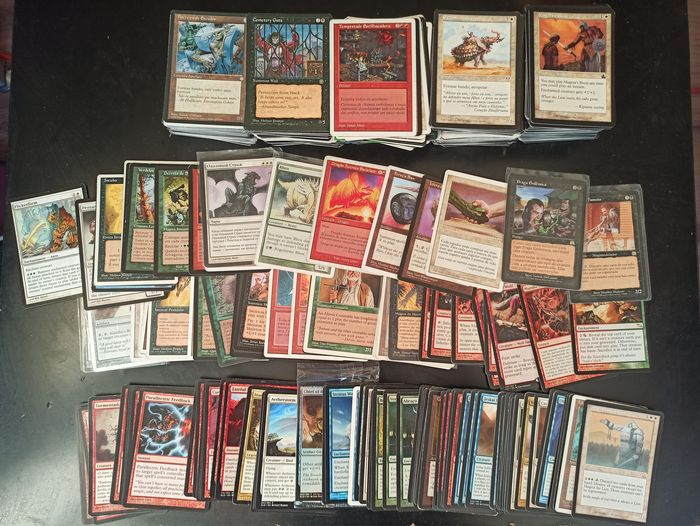 wizards of the West coast - Magic: The Gathering - Carta collezionabile magic The gathering 604 vintage cards mostly from 94 to 99 with 106 rare cards good overall