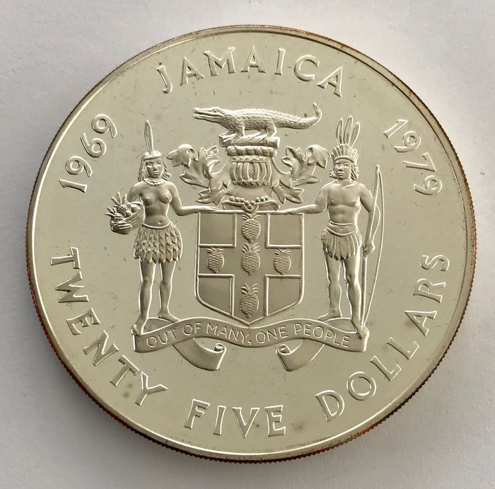 Jamaica - 25 Dollar 1979 - 10th Anniversary of Investiture of Prince Charles - Silver