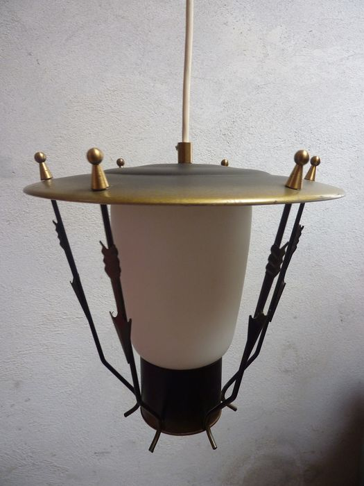 A midcentury ceiling lamp (in the style) of Maison Arlus
