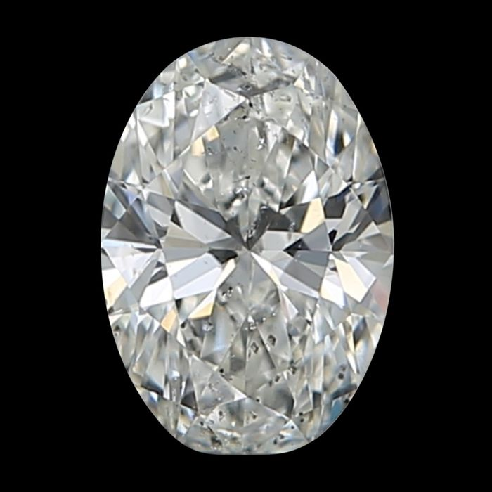 1 pcs Diamant - 0.50 ct - Oval - H - SI2